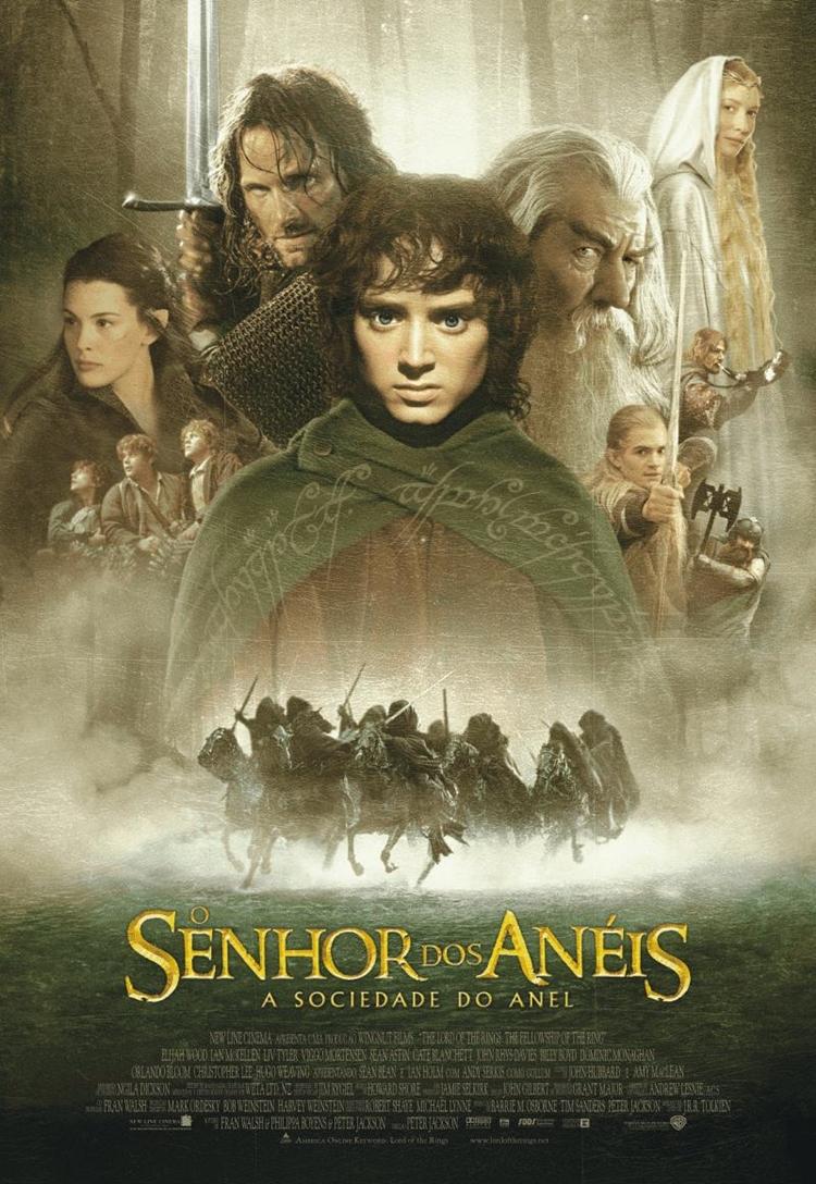 """Foto da capa do filme """"O Senhor dos Anéis"""". Filmes de amizade."""