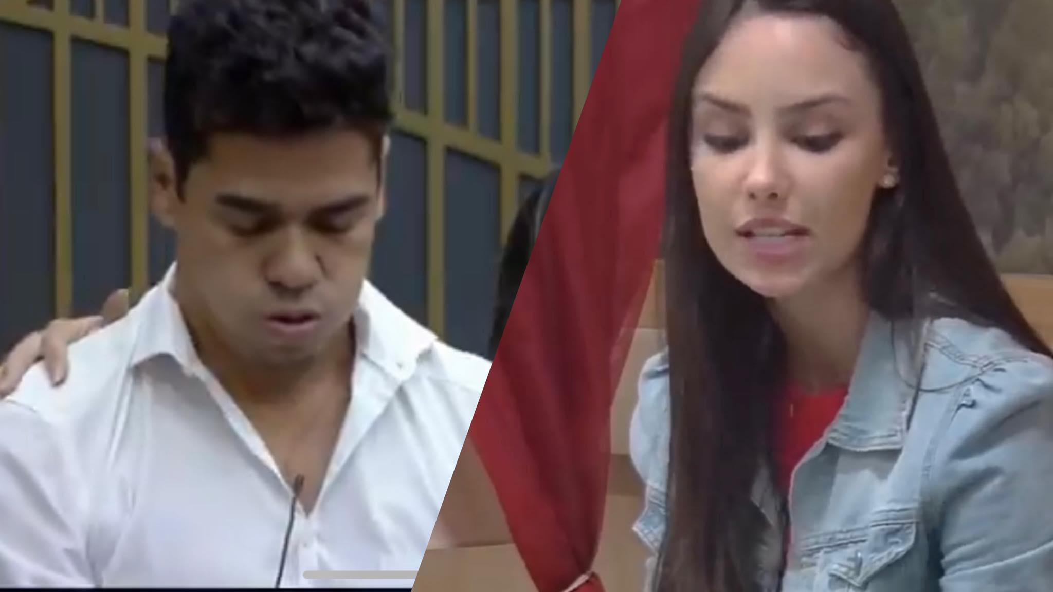 Geórgia chora para Fábio ao relatar dificuldades na carreira de Thiago (montagem: Fashion Bubbles)