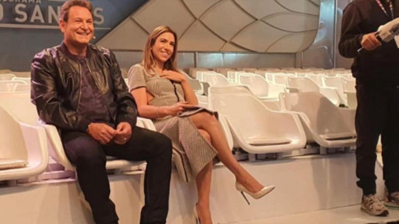 Luís Ricardo e Patrícia Abravanel acompanham o retorno de Silvio Santos aos palcos do SBT; Fonte: Instagram