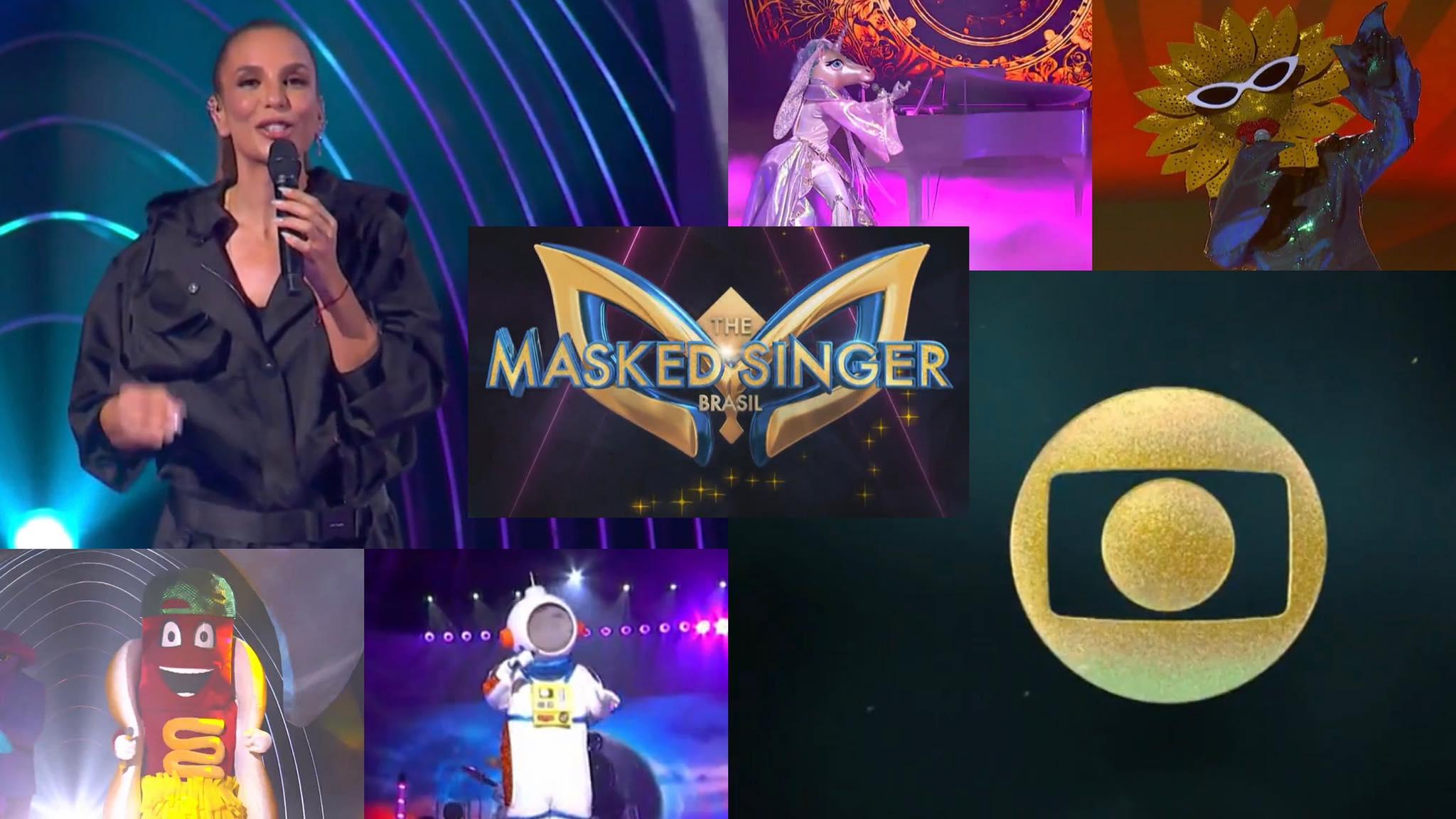 Globo divulga nomes dos jurados do The Masked Singer Brasil. Fonte: Montagem/ Fashion Bubbles