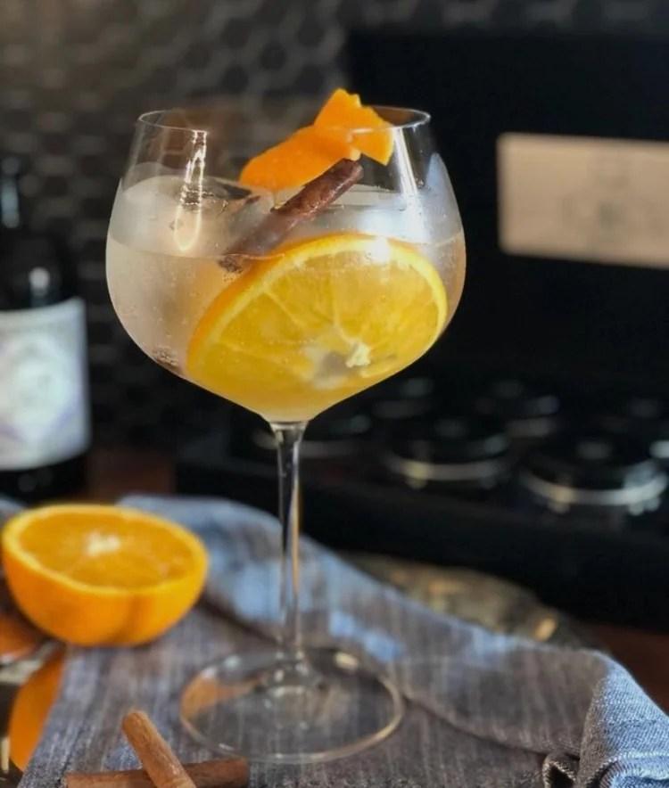 Drink Gin aromatizado.