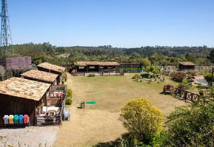 Foto aérea da propriedade onde fica a sede de A Fazenda