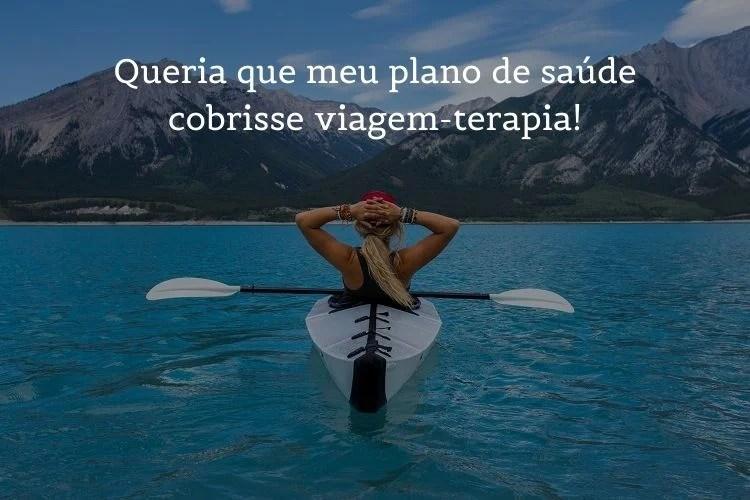 foto de mulher em caiaque com frases de viagem