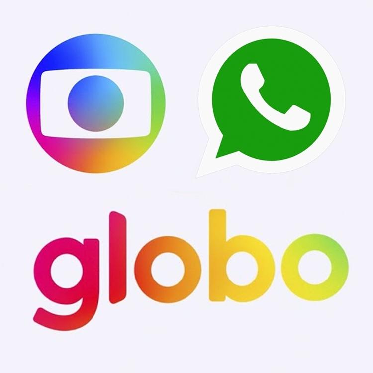 Foto da logo da Rede Globo e do WhatsApp.