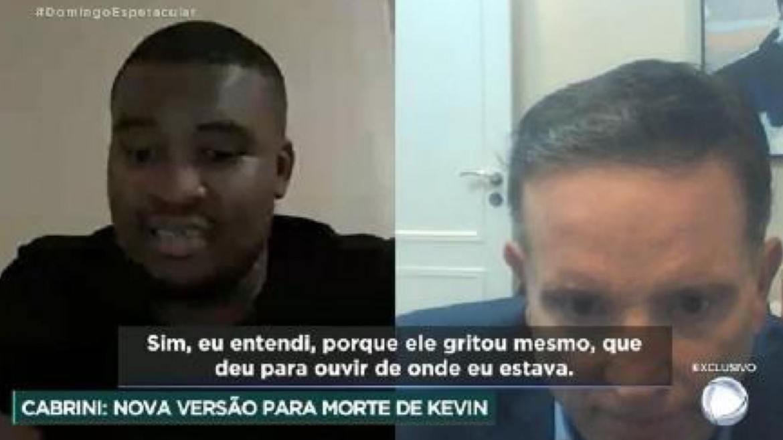 Fernando Dimmy Jr, cantor português afirma que presenciou a queda de MC Kevin. Fonte: Reprodução/ Record TV