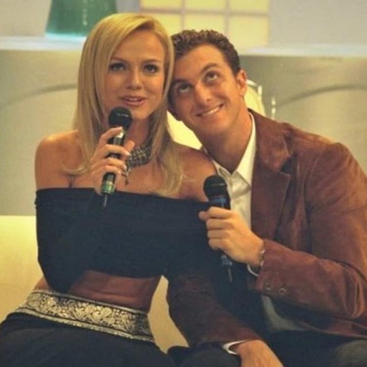 Foto da apresentadora e Luciano Huck.