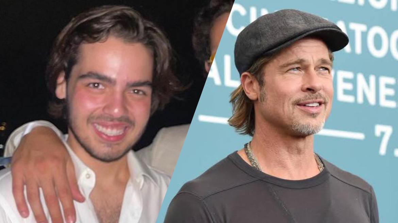 João Guilherme, filho de Faustão, é comparado a Brad Pitt, após click na Itália. Fonte: Montagem/ Fashion Bubbles