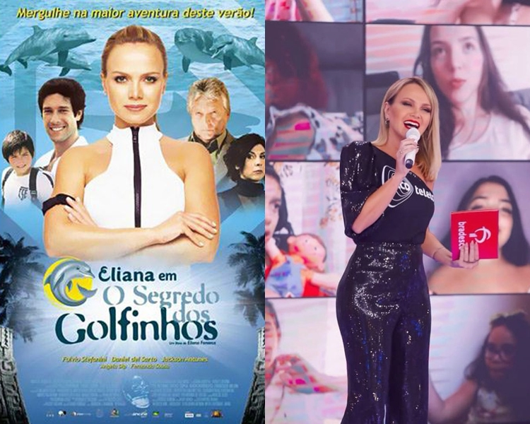 Fotos da capa do filme da eliana e dela no Teleton.