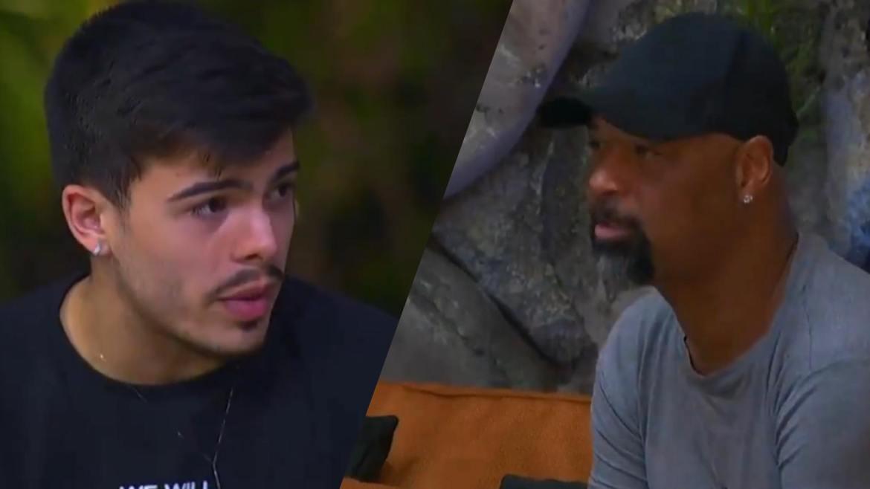Thomaz Costa pede desculpas à equipe e Dinei diz que ele é que tem que receber o pedido de perdão. Fonte: Montagem/ Fashion Bubbles