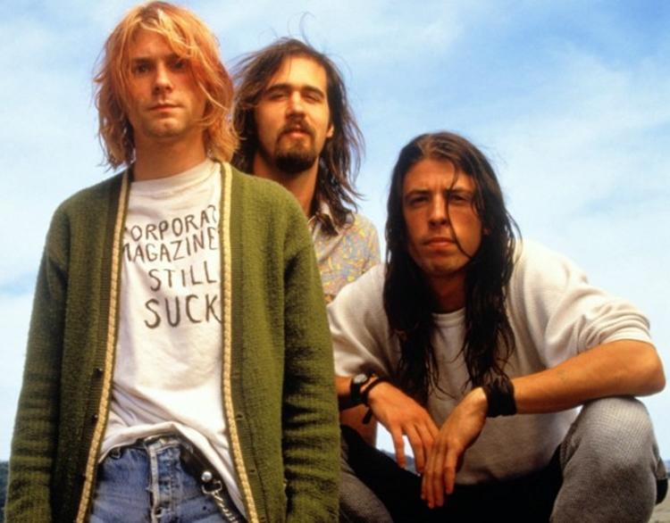 Foto da banda Nirvana.