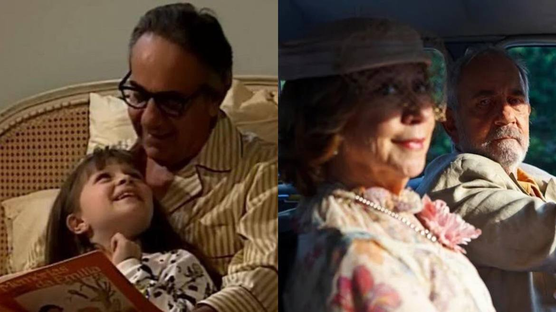 Paulo José com Cecília Dassi em Por Amor (1998) e com Fernanda Montenegro em As Brasileira (2012)