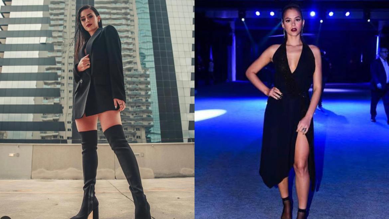 Fãs de Neymar comparam Bruna Biancardi (à esquerda) com Bruna Marquezine (à direita). Fonte Montagem/Fashion Bubbles