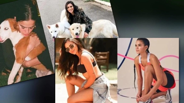 Tanto Bruna Marquezine como Bruna Biancardi (atual de Neymar) gostam de fotos, esportes e cachorros. Fonte: Montagem/ Fashion Bubbles