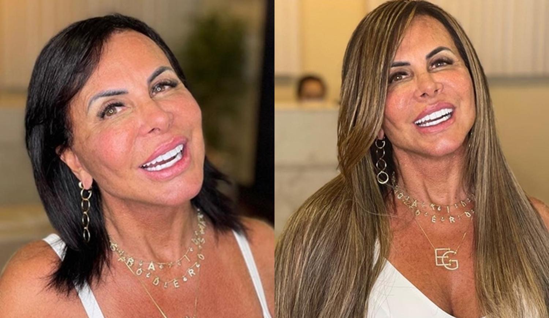 Foto do antes e depois da mudança no visual.