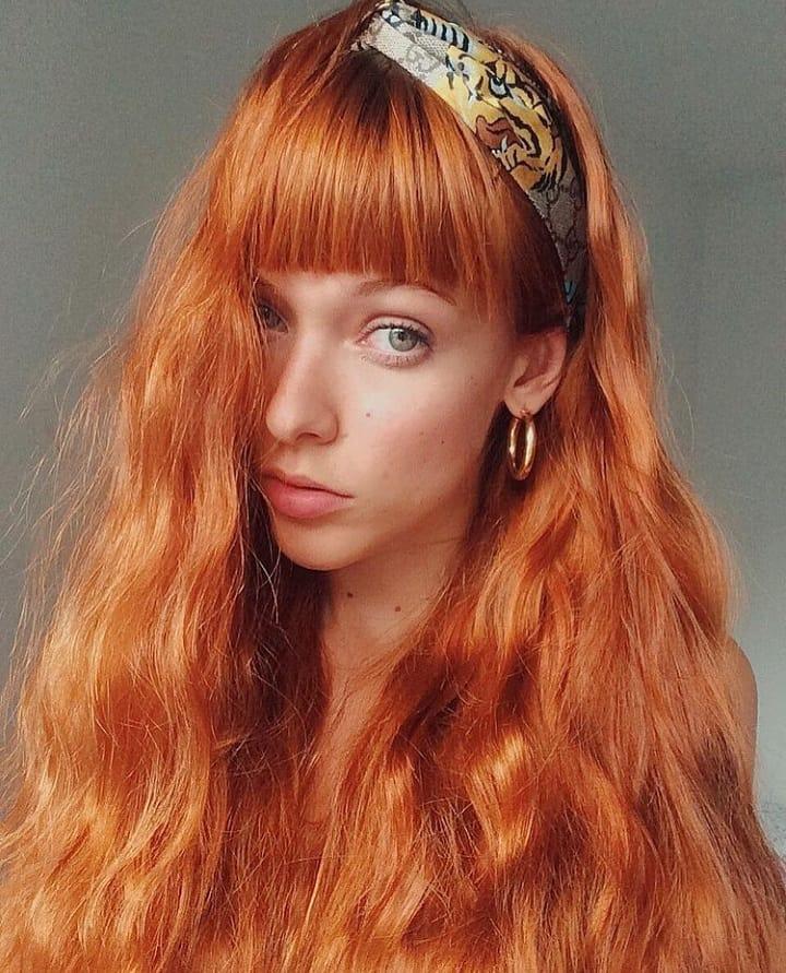 cabelo ruivo longo