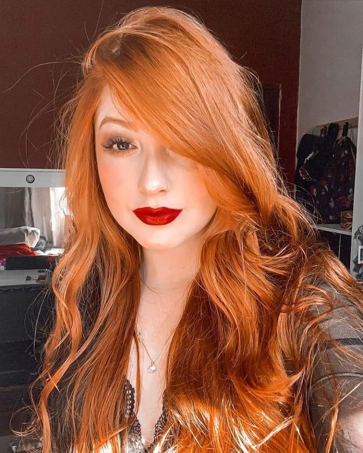 cabelo ruivo acobreado