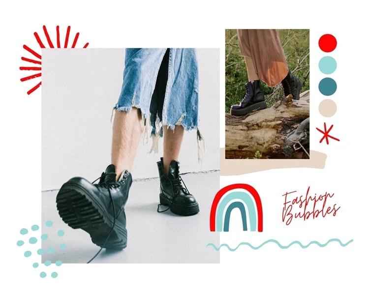 Fotos de botas com plataformas.