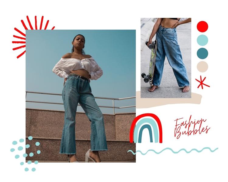 Foto de moças usando calças largas, tendências dos anos 90 invoga em 2021.