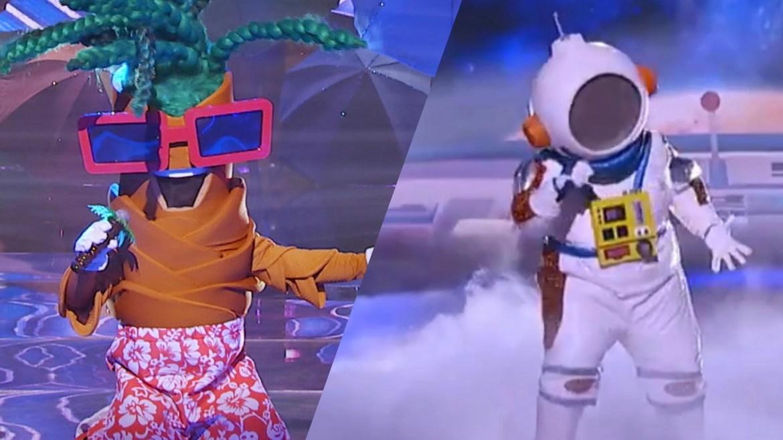 O Coqueiro perdeu na disputa direta com o Astronauta na última terça-feira, do The Masked Singer Brasil. Fonte: Montagem/ Fashion Bubbles.