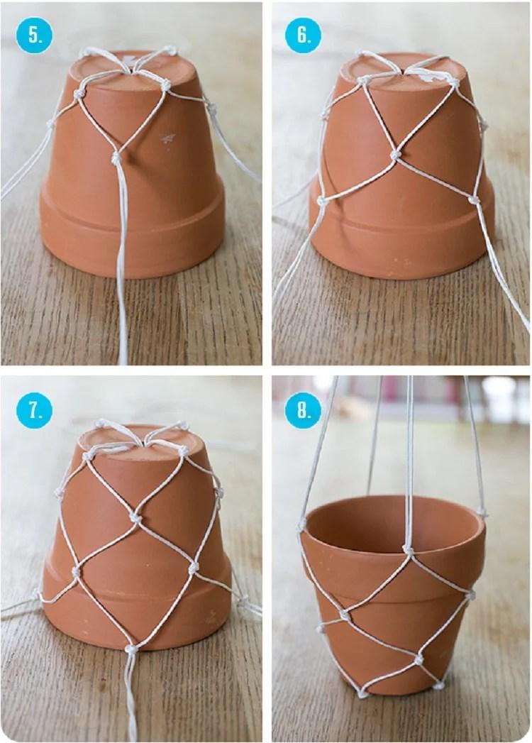 Foto de como fazer hanger para plantas