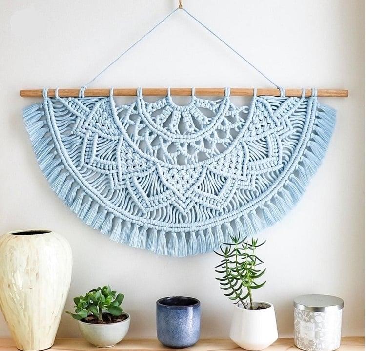 Foto de painel de parede em artesanato com barbante