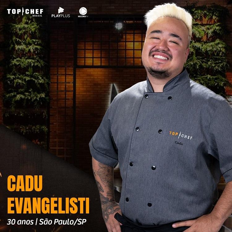 Participante Cadu Evangelisti, participante do Top Chef Brasil