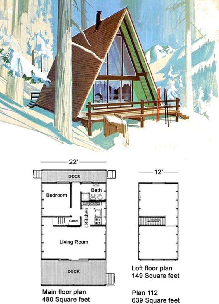 Casa com deck dos dois lados.