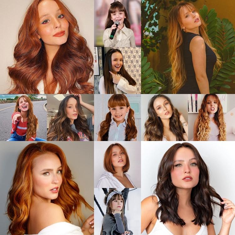 Fotos dos cabelos de Larissa Manoela.