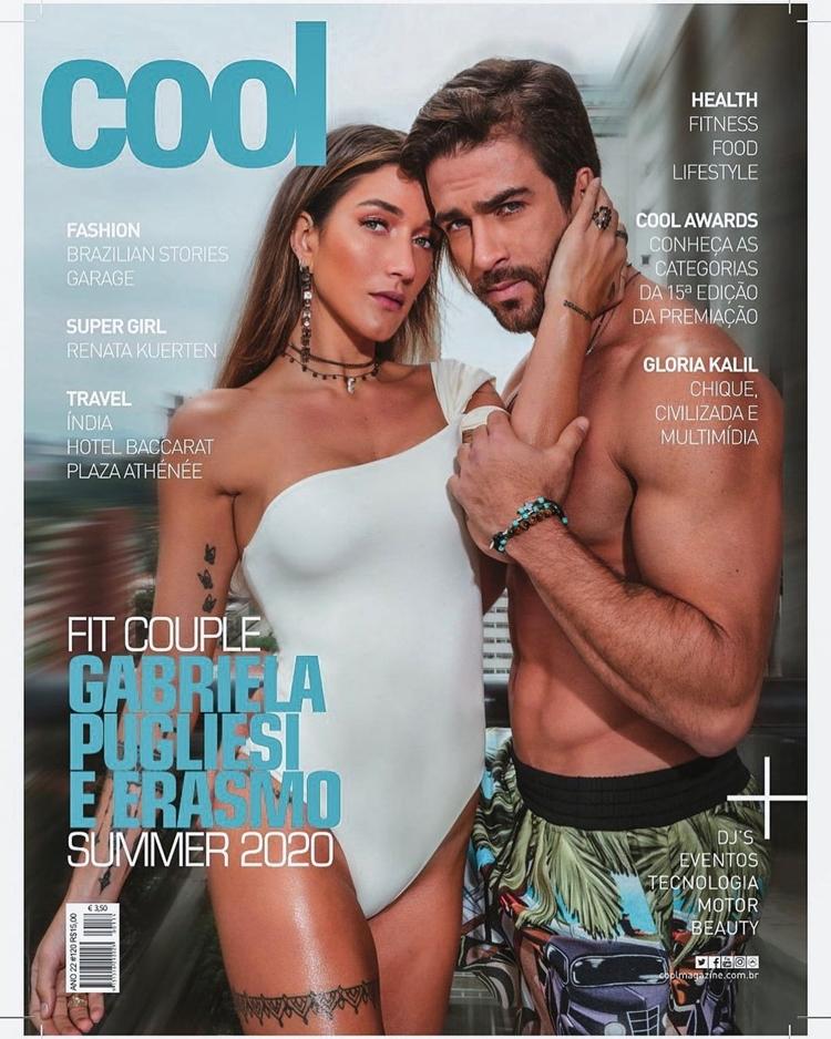 Foto do casal na capa da revista cool.