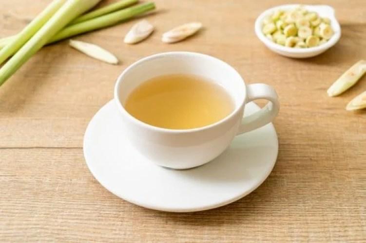 Chá de capim limão.