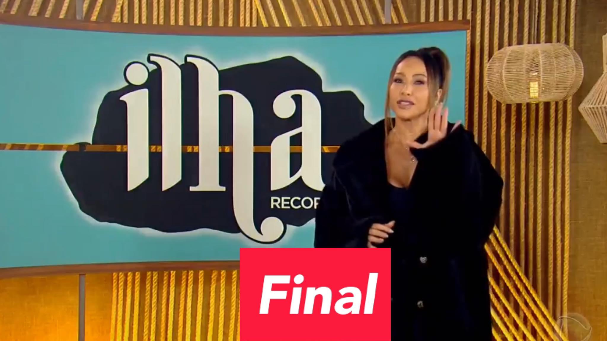 Sabrina Sato detalha como será a final do Ilha Record. Fonte: Reprodução/ Record TV