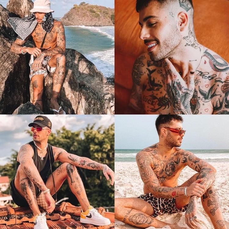Foto de Gui Araújo - Tatuagens peões do A Fazenda 13.