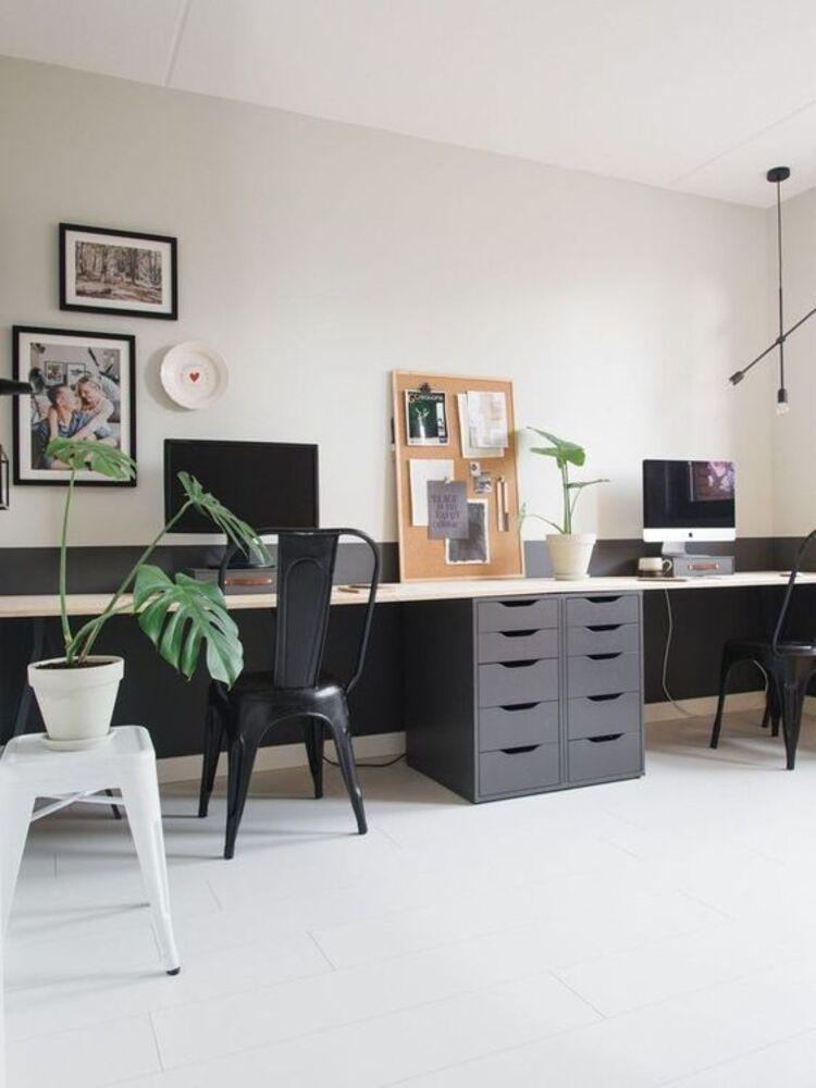 Ambiente moderno preto e branco.