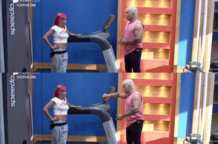 Valentina e Tiago discutem relação em A Fazenda
