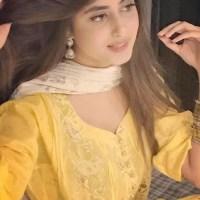Sajal Ali in beautiful yellow dress