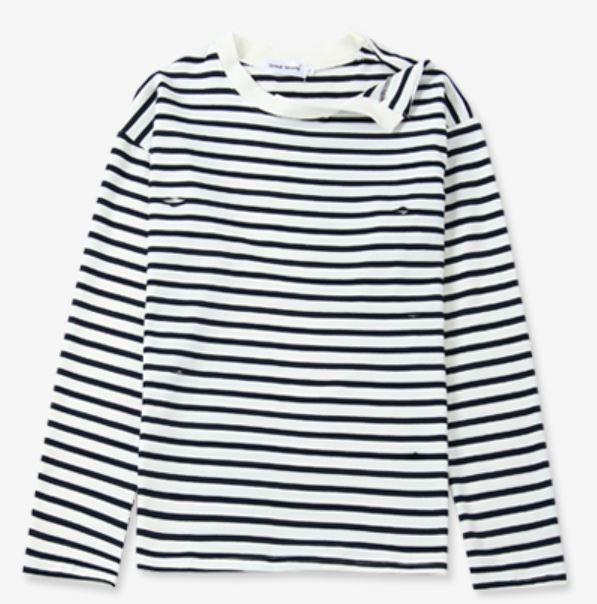 Open Shoulder Striped Shirt | Jimin – BTS