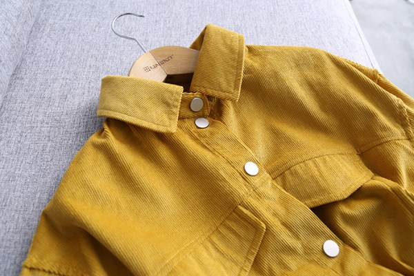 Mustard Yellow Cord Jacket | Eun Tae Hee – The Great Seducer