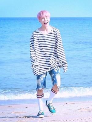 Open Shoulder Striped Shirt | Jimin – BTS