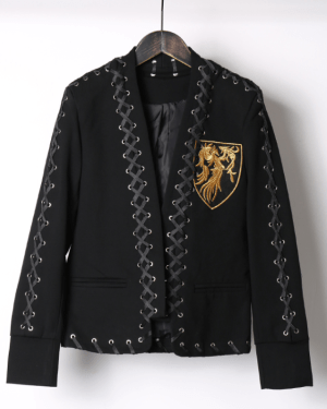 Suga Jacket Black with Yellow Symbol