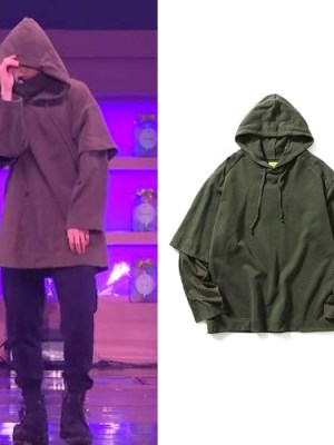 Khaki Hoodie | Jungkook – BTS