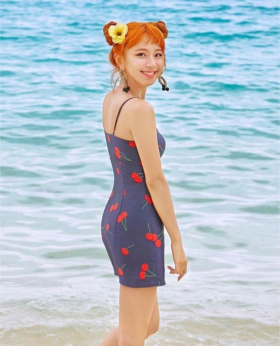 Blue Cherry Dress   Chaeyoung – Twice