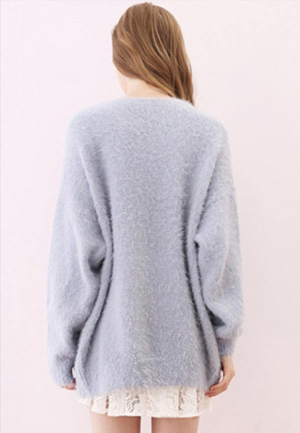 Blue Fluffy Cardigan | Jimin – BTS