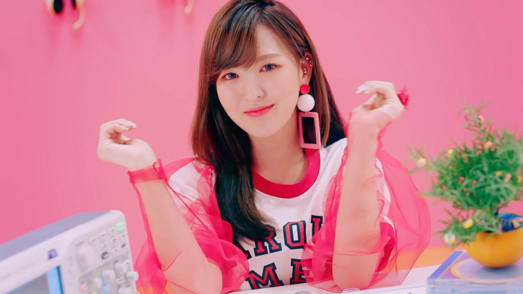 Red Velvet Wendy Marques Almeida Shirt in the Power Up MV
