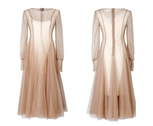 Chic Apricot Dress   Mina – Twice
