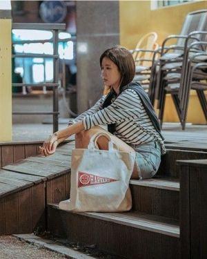 Harvard Canvas Bag | Kang Mi Rae – My ID is Gangnam Beauty
