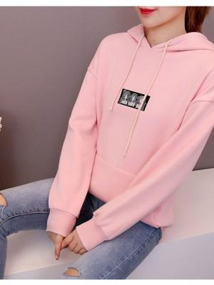 Weightlifting Fairy Kim Bok Joo Pink Hoodie