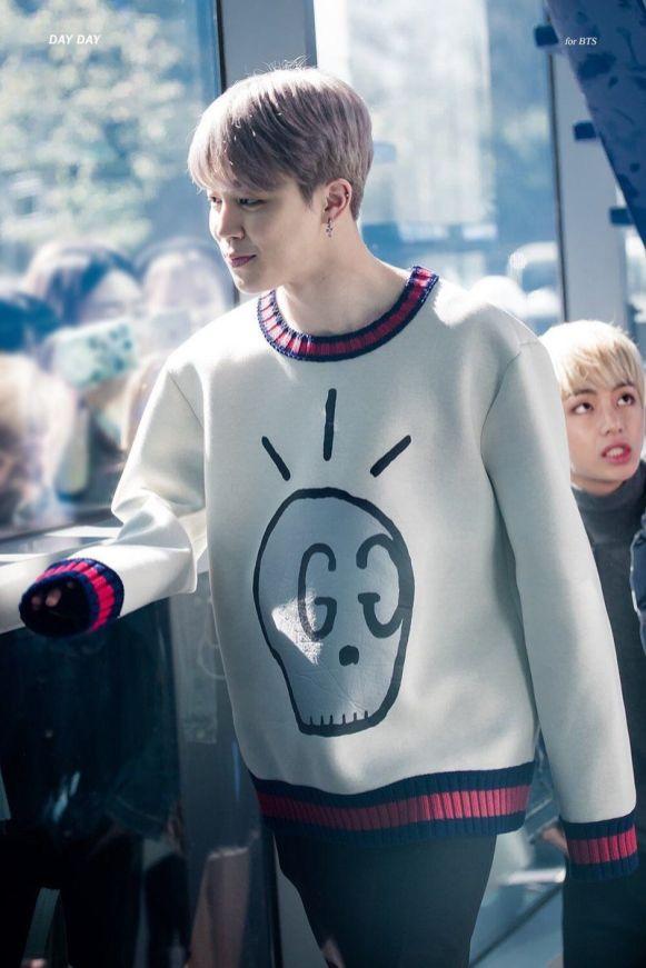 Jimins Skull Sweater gift from Tae