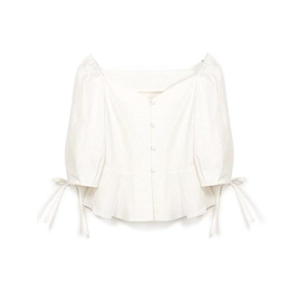 White Top Blouse | Kim Mi So