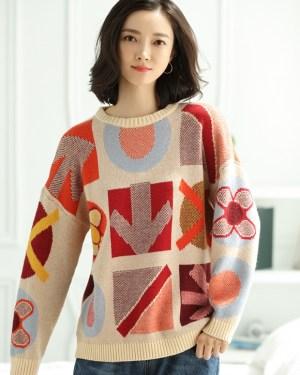 Jennie Patterned Wool Sweater (1)