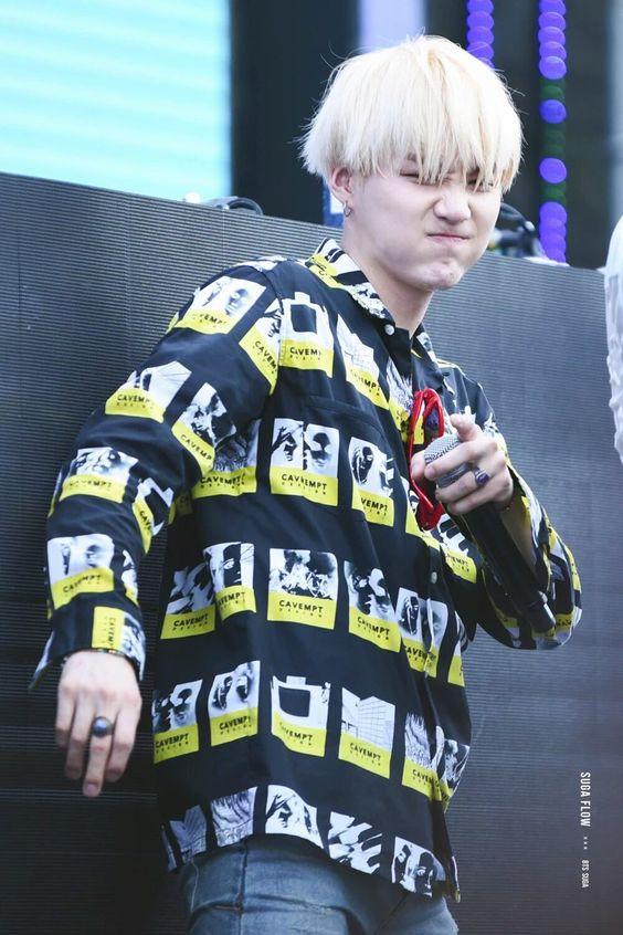 Yellow Black Shirt   Suga – BTS